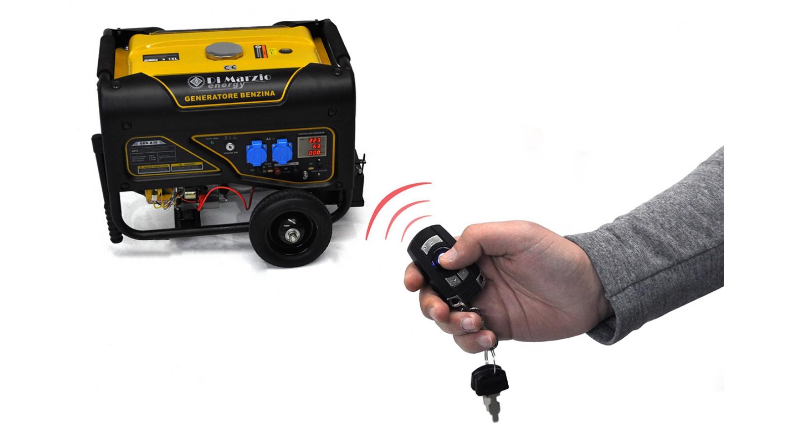 Generatore di corrente 3 kw benzina avv elettrico con for Generatore di corrente con avviamento automatico