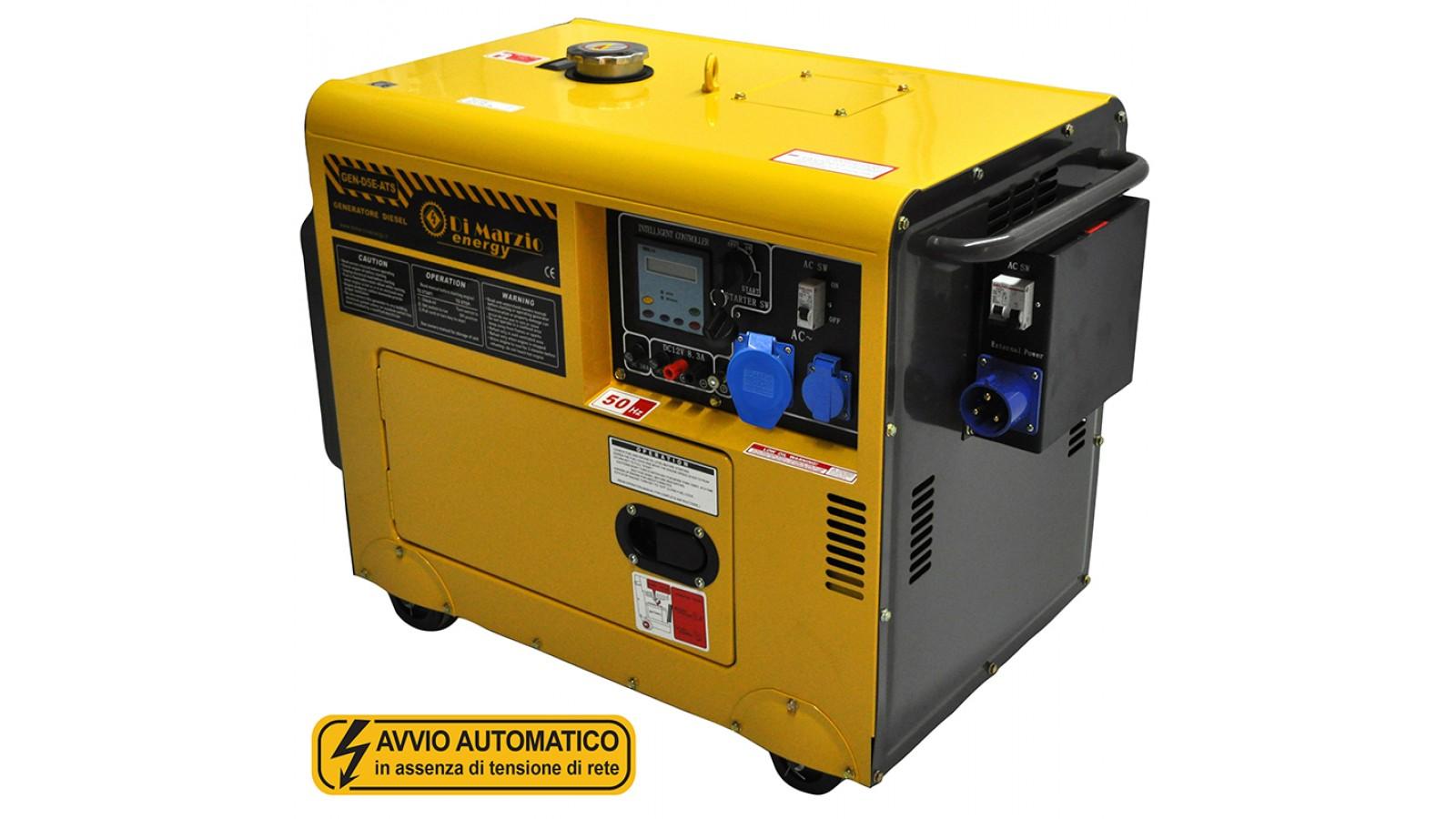 Generatore di corrente diesel 4 5 kw gruppo elettrogeno for Gruppo elettrogeno 3 kw avviamento automatico