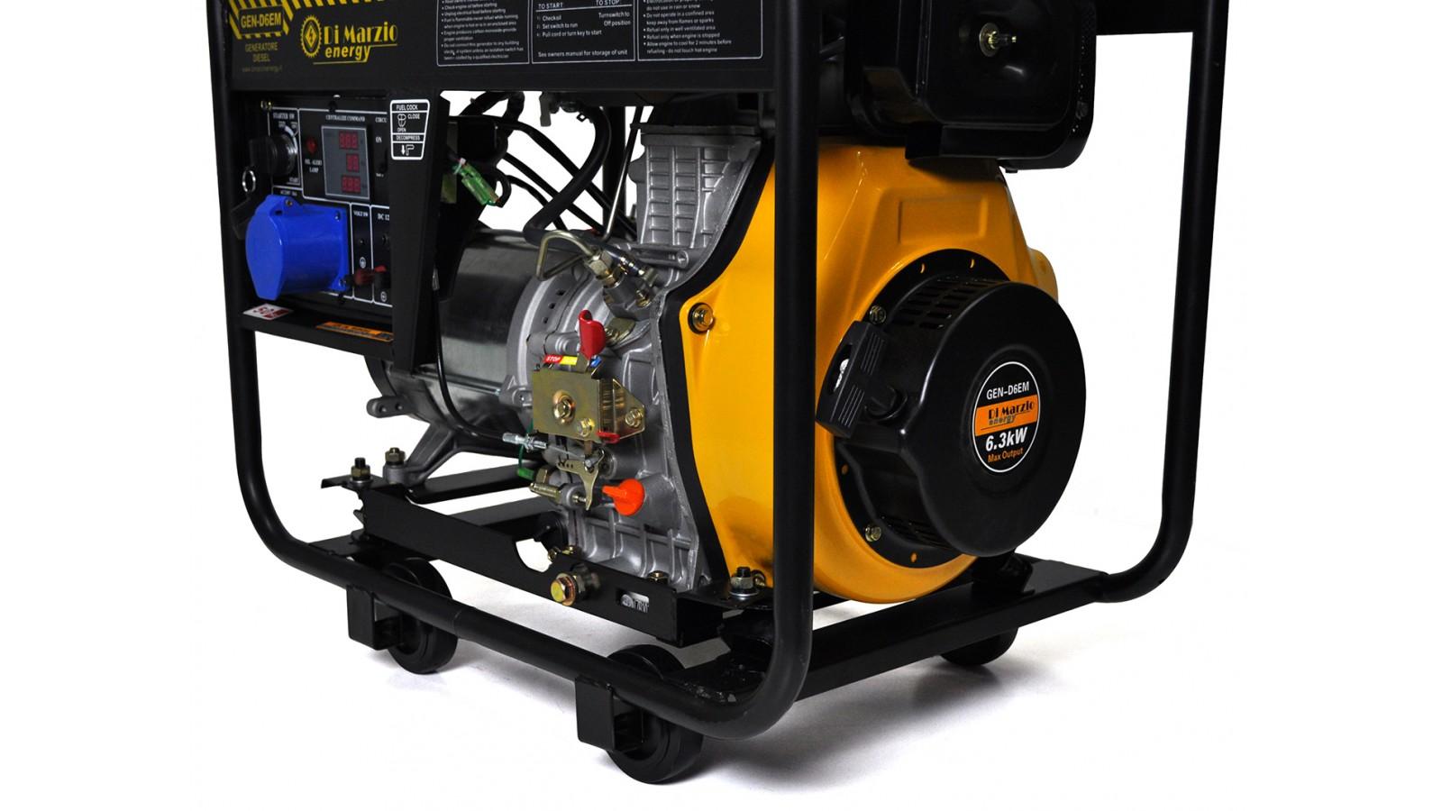 Generatore di corrente diesel 6 kw gruppo elettrogeno for Generatore di corrente 10 kw