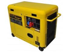 Generatore di corrente diesel 6 kw trifase silenziato - gruppo elettrogeno avviamento elettrico