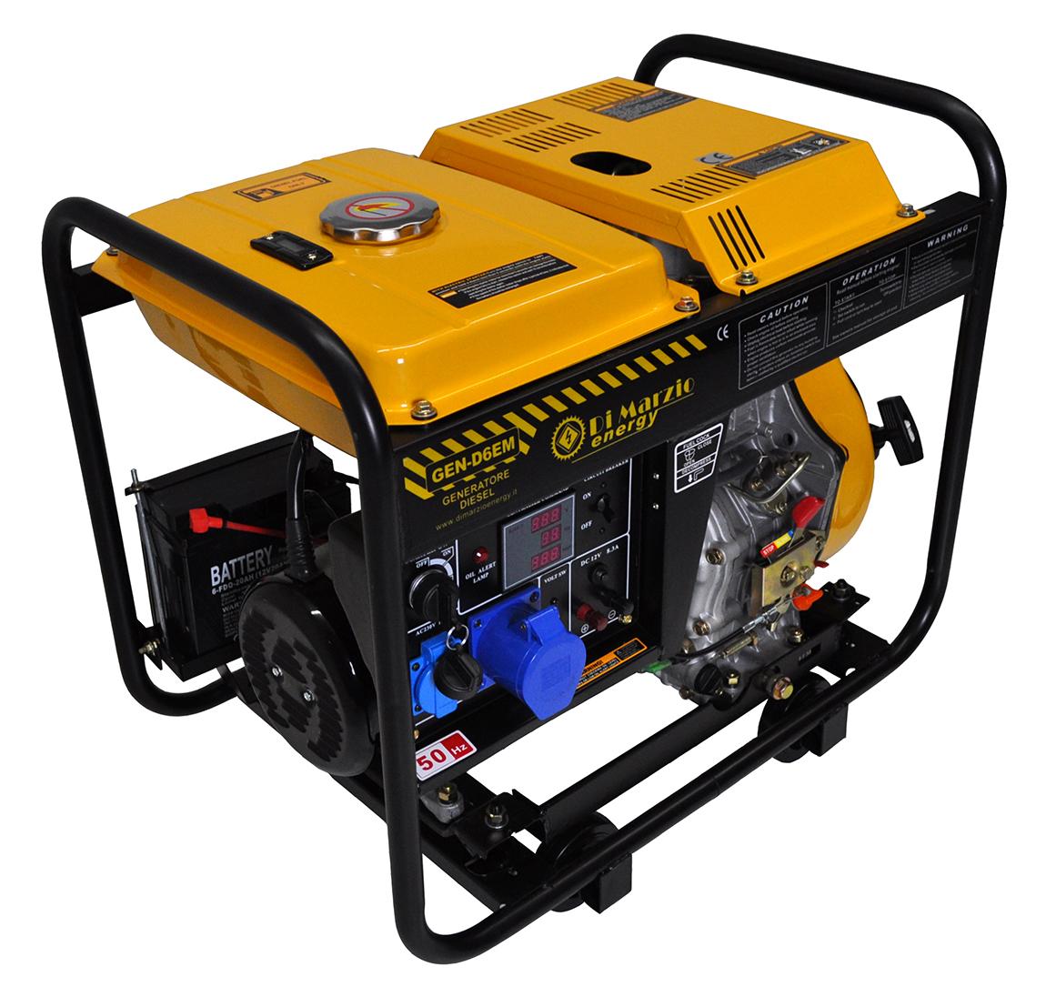 Generatore di corrente diesel 6 kw trifase silenziato for Generatore di corrente 10 kw