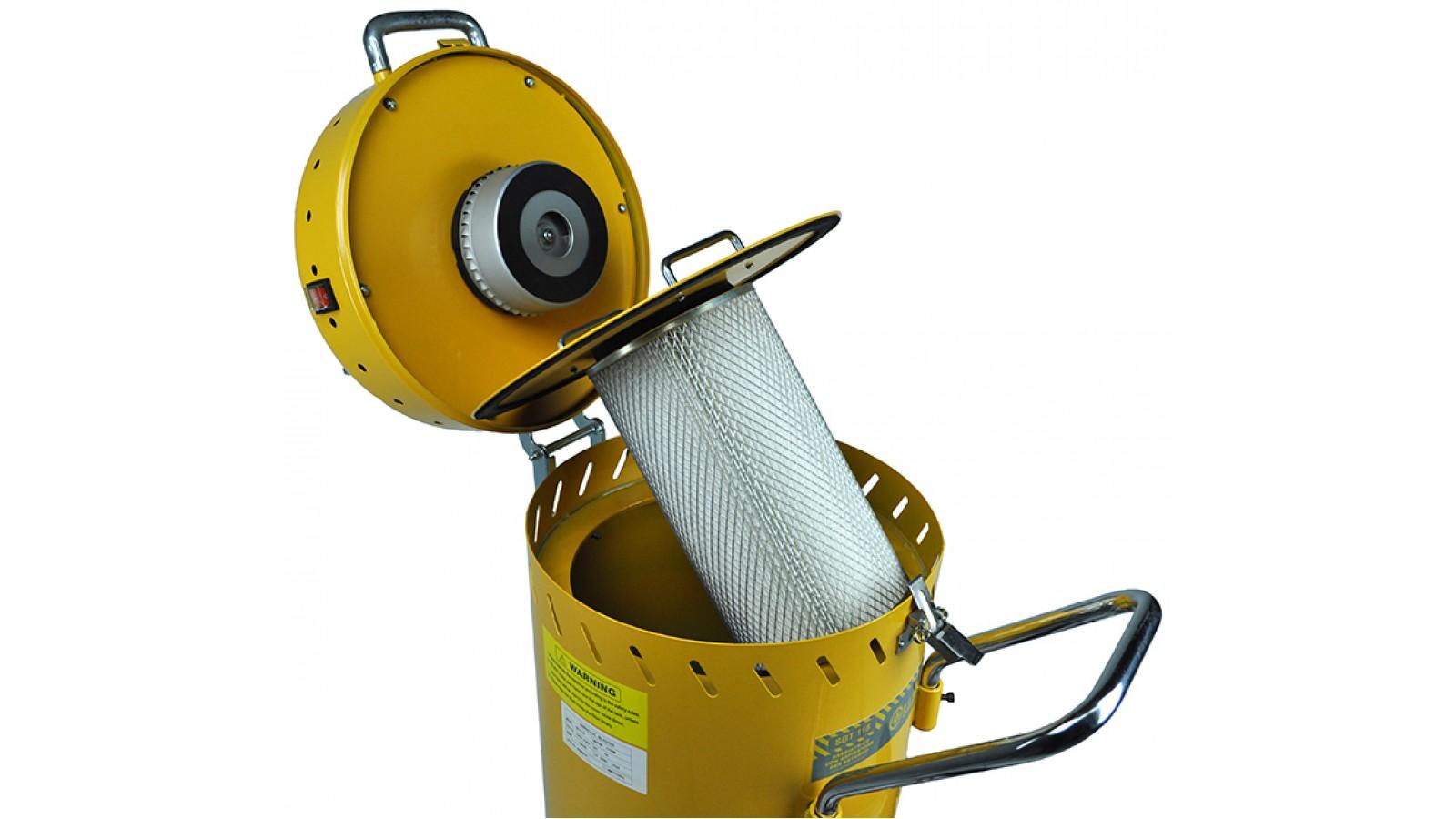 Sabbiatrice per esterno portatile professionale, con aspiratore e riciclo