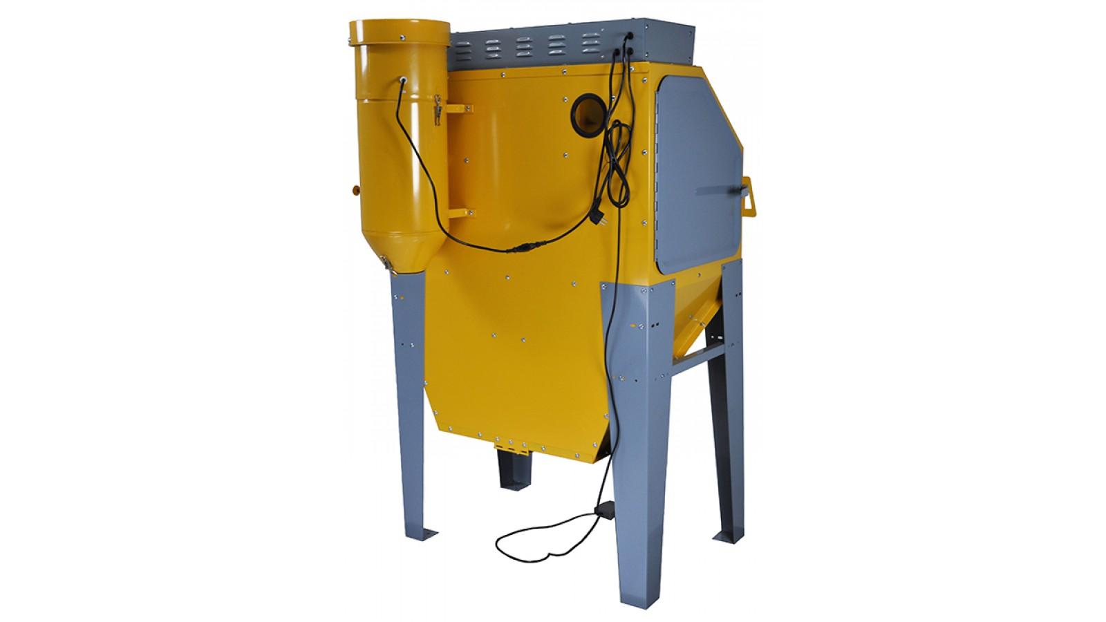 Sabbiatrice professionale con doppio getto e aspiratore - cabina di sabbiatura con accessori