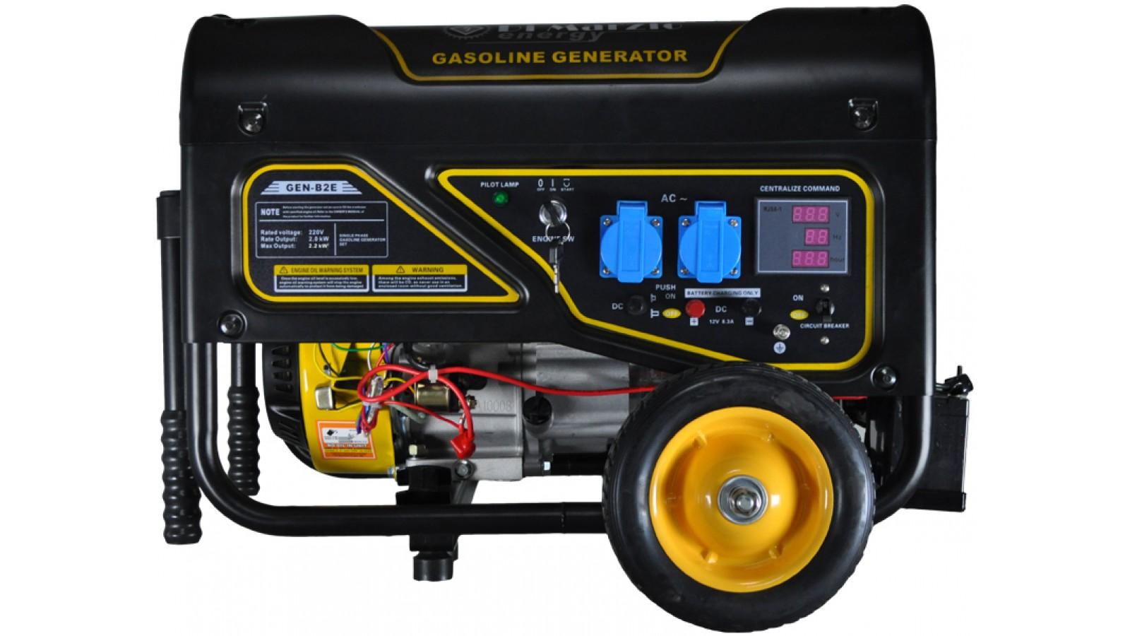 Generatore di corrente 2 kw benzina, gruppo elettrogeno avviamento con telecomando