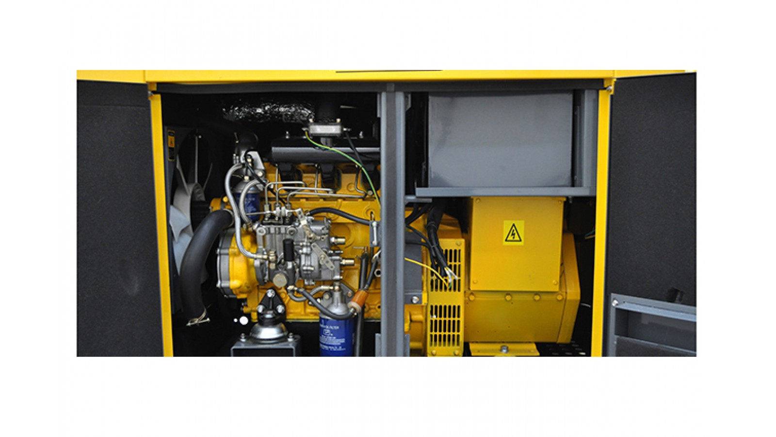 Generatore di corrente 10 KW Diesel - Avviamento automatico - Gruppo elettrogeno Super Silenziato