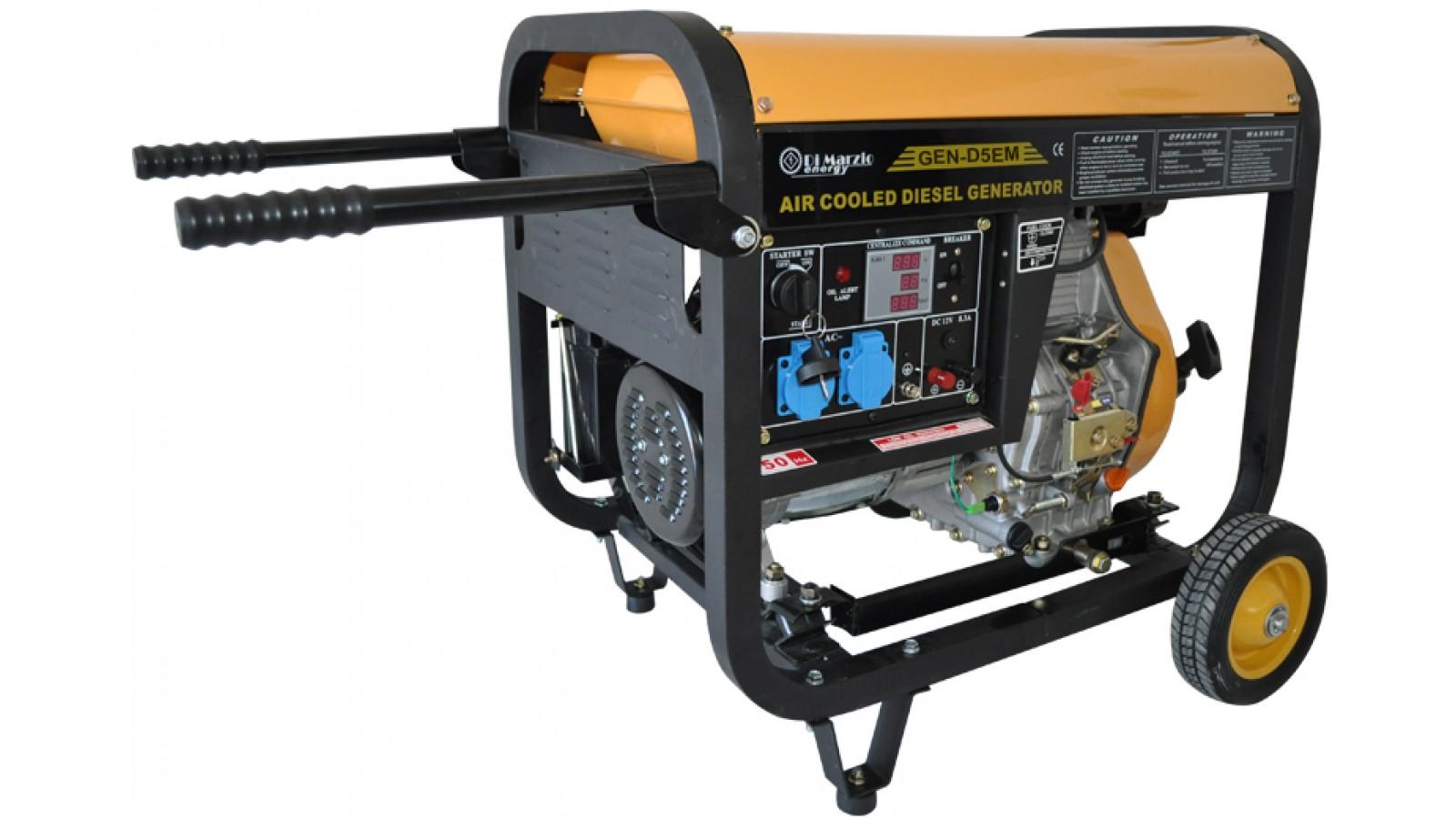 Generatore di corrente 4.5 KW Diesel - Gruppo elettrogeno Avviamento elettrico