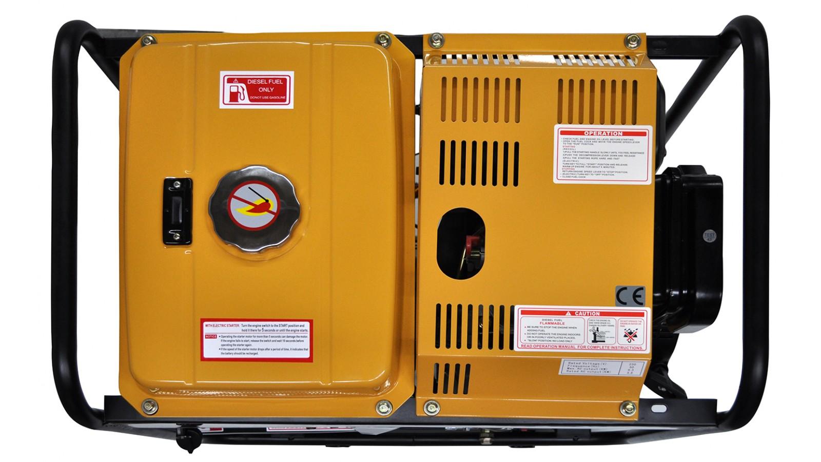 Generatore di corrente Diesel 6 KW Trifase - Gruppo elettrogeno avviamento elettrico/manuale