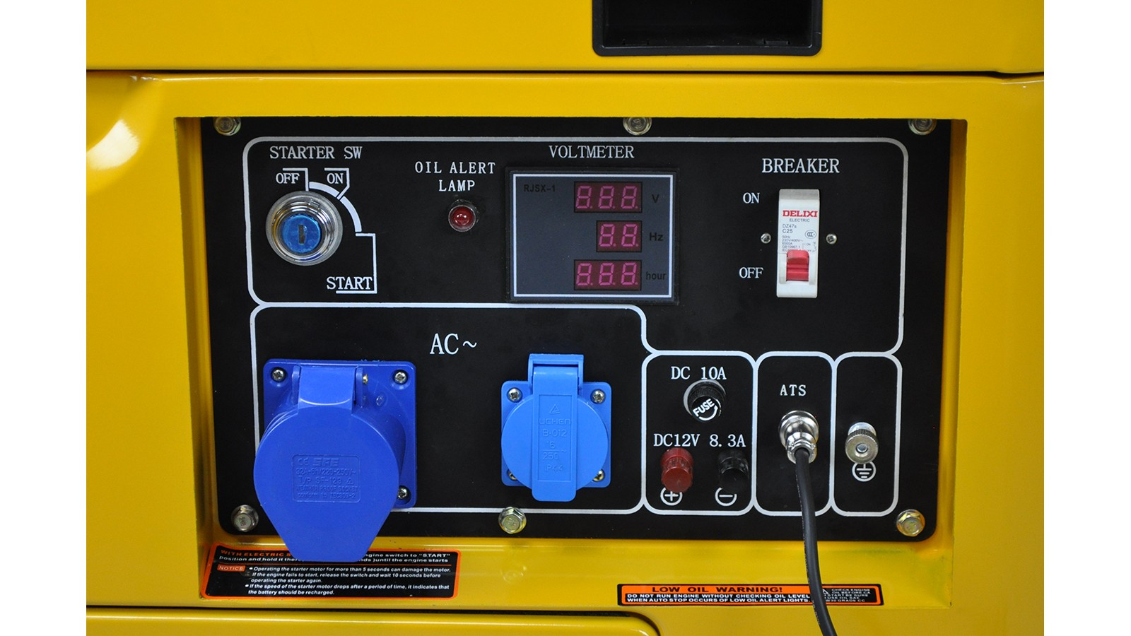 Generatore di corrente diesel 6 kw silenziato - gruppo elettrogeno avviamento elettrico - sistema ATS