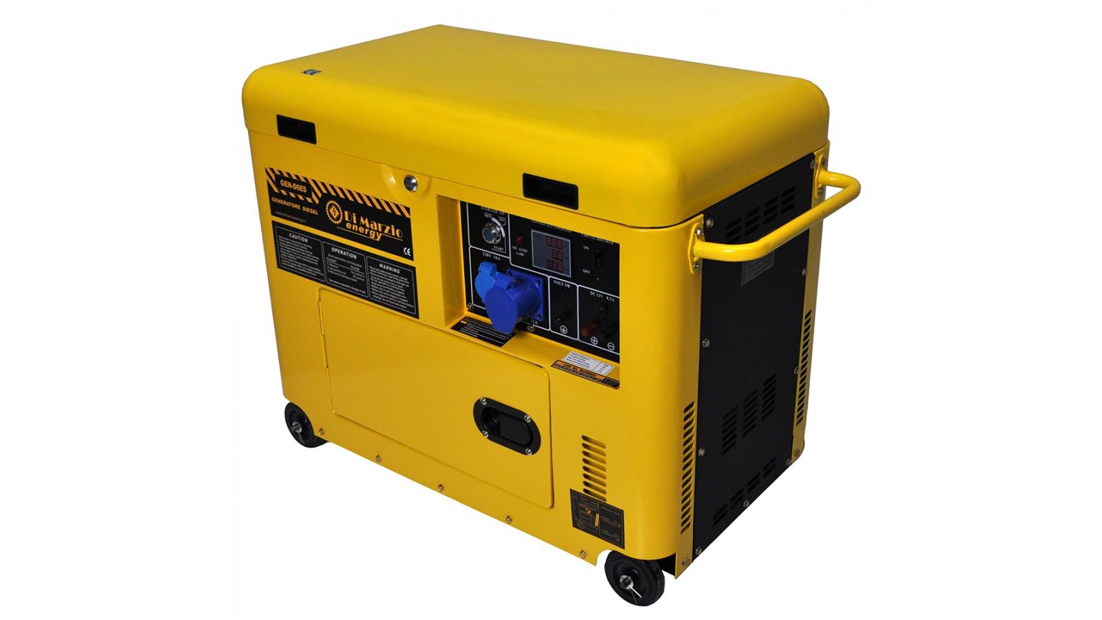 Generatore di corrente diesel 6 kw silenziato - gruppo elettrogeno avviamento elettrico